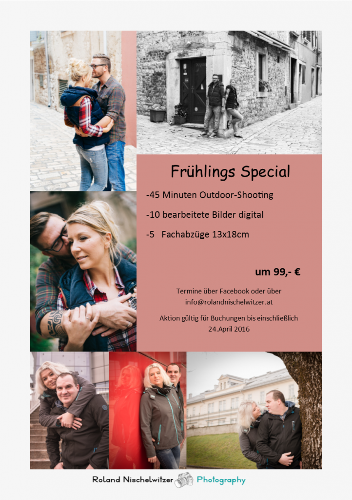 Roland Nischelwitzer Photography - Frühlings Special 2016 - Aktion Foto Shooting - Outdoor